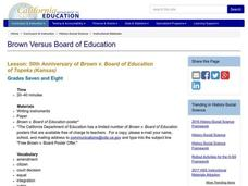 50th Anniversary of Brown v. Board of Education Lesson Plan