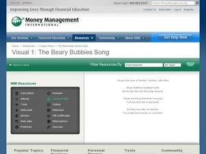 The Beary Bubbies Song Graphic Organizer