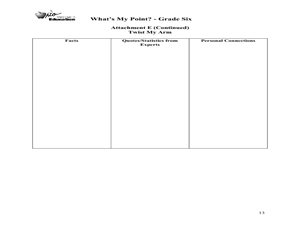 What's My Point: Persuasive Writing Lesson Plan