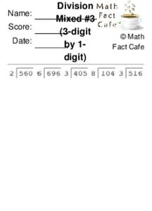 Divide 3-Digit by 1-Digit Worksheet