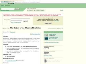 The History of the Theory of Evolution Lesson Plan