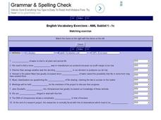 English Vocabulary Skills: AWL Sublist 1 - Exercise 1c Interactive