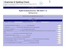 English Vocabulary Skills: AWL Sublist 1 - Exercise 4a Interactive