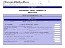 English Vocabulary Skills: AWL Sublist 1 - Exercise 4c Interactive
