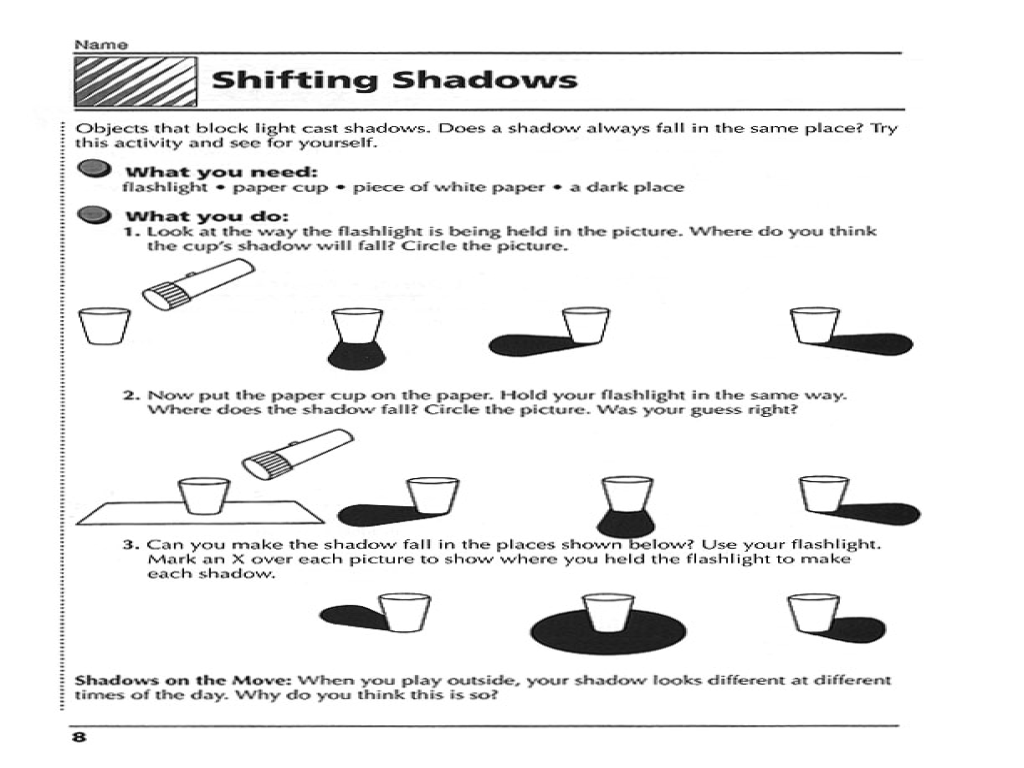 Worksheets On Light And Shadows - The Best and Most Comprehensive ...