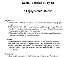 topographic map lesson plan Topographic Maps Lesson Plan For 7th Grade Lesson Planet