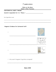 Plates on the Move Worksheet