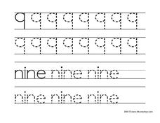 9: Nine Worksheet