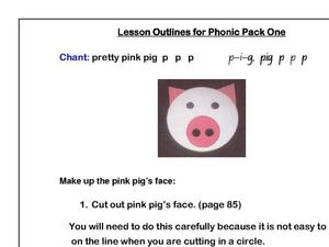Phonics: Pretty Pink Pig Worksheet
