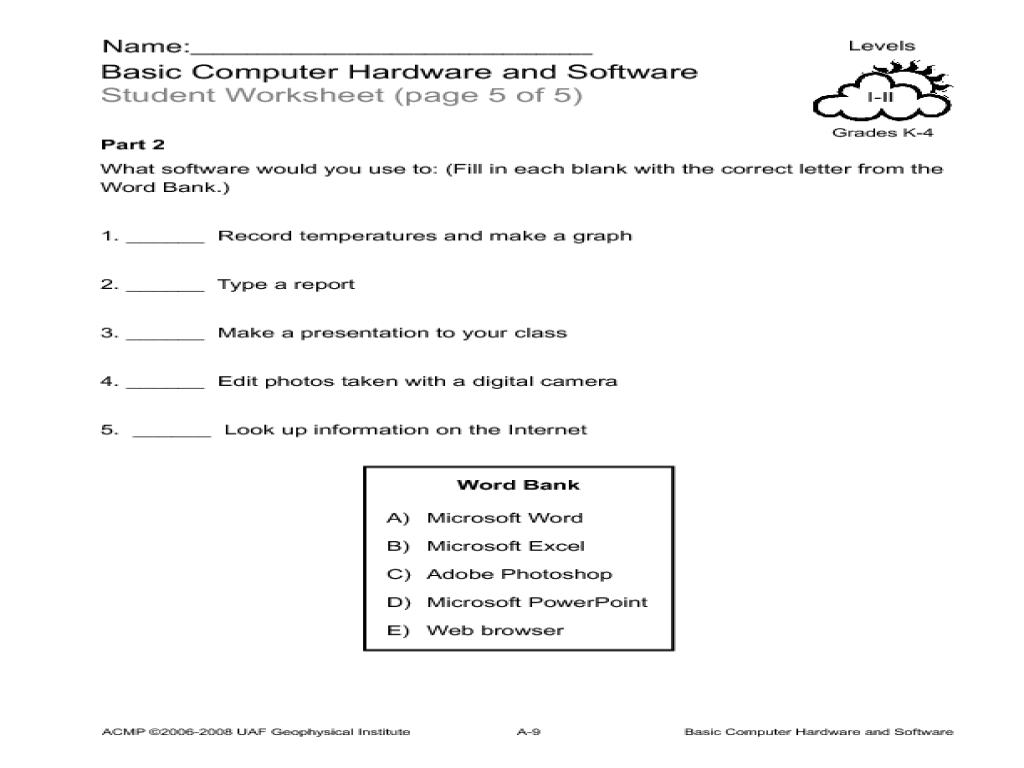 worksheet Computer Basics Worksheet computer hardware lesson plans worksheets reviewed by teachers basic and software