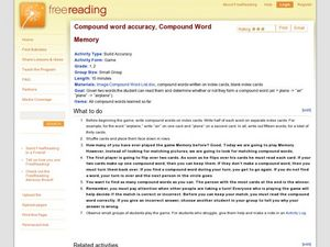 Compound word accuracy, compound word memory Lesson Plan