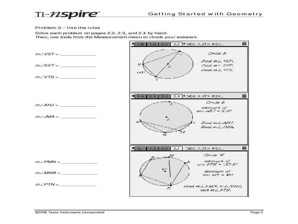 Inscribed Angles Id 9687 Lesson Plan For 10th Grade
