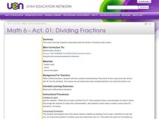 Dividing Fractions Lesson Plan