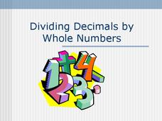 Dividing Decimals by Whole Numbers Presentation