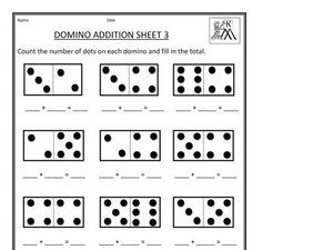 domino addition sheet  worksheet for st  nd grade  lesson planet domino addition sheet  worksheet