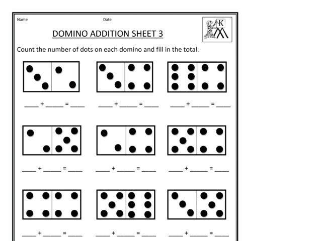 Domino Addition Sheet 3 1st 2nd Grade Worksheet – Domino Addition Worksheet