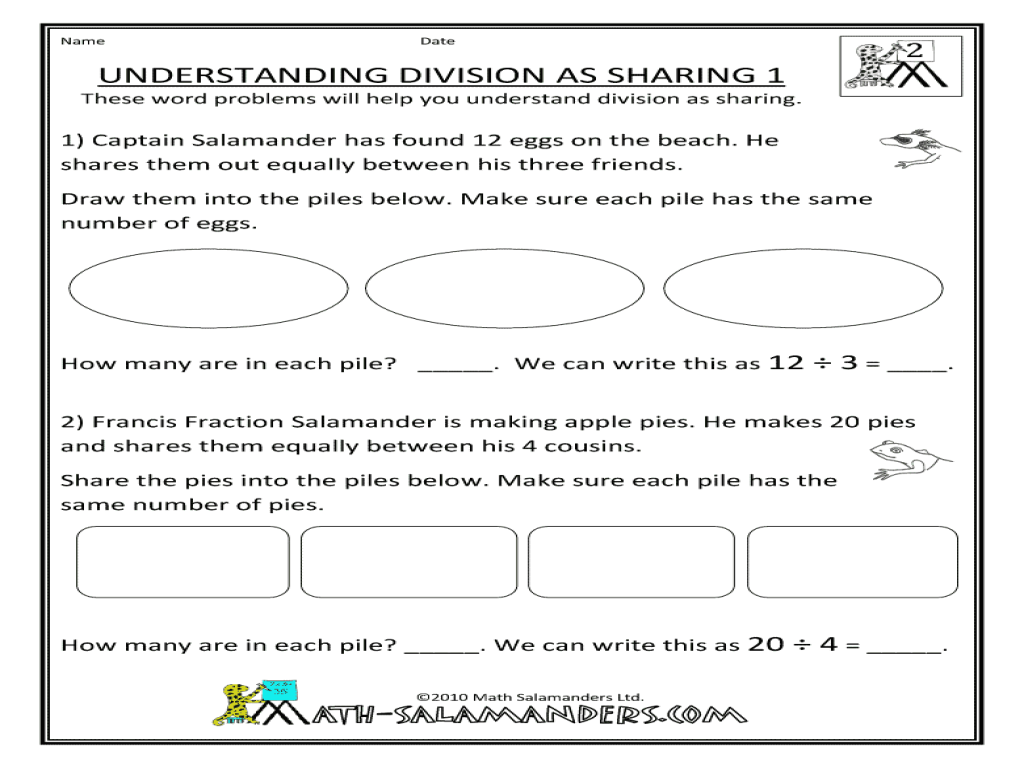 understanding division as sharing worksheet 1 worksheet for 3rd 4th grade lesson planet. Black Bedroom Furniture Sets. Home Design Ideas
