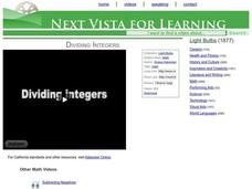 Dividing Integers Video