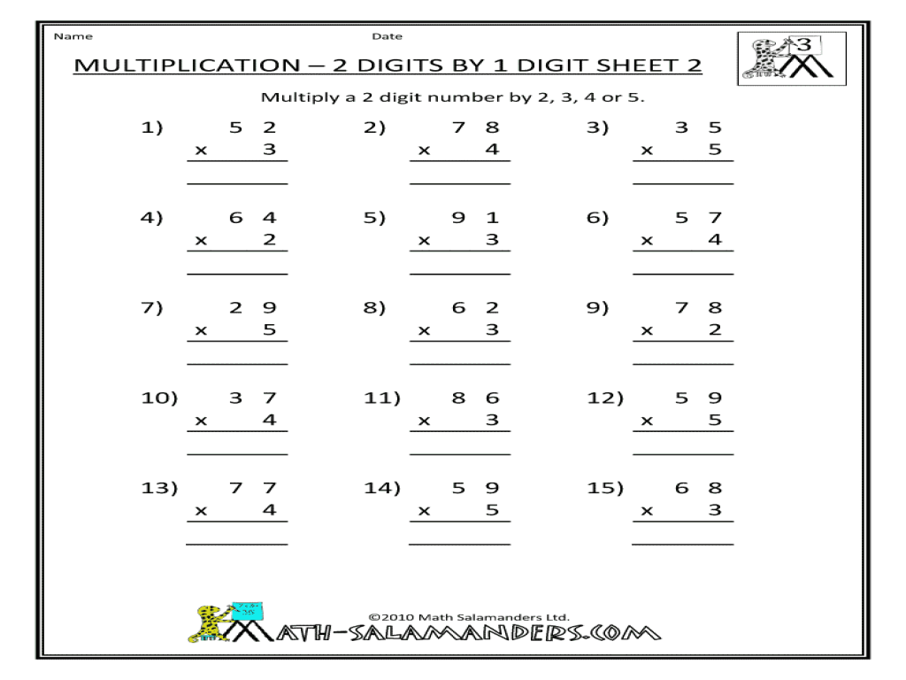 multiplication 2 digits by 1 digit sheet 2 worksheet for 2nd 3rd grade lesson planet. Black Bedroom Furniture Sets. Home Design Ideas