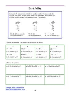 Divisibility Lesson Plan