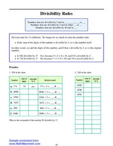 Divisibility Rules Lesson Plan