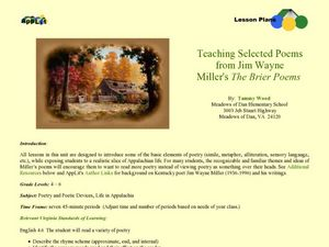 Teaching Selected Poems from Jim Wayne Miller's the Brier Poems Lesson Plan