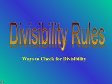 Divisibility Rules Presentation