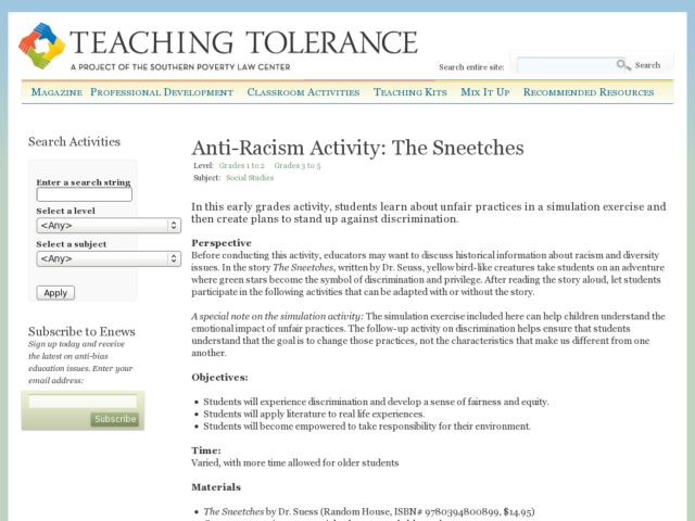 Sneetches lesson plans worksheets reviewed by teachers anti racism activity the sneetches sciox Choice Image