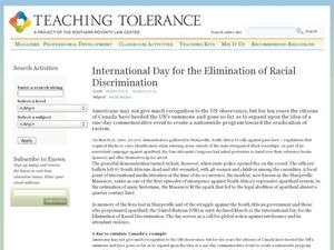 International Day for the Elimination of Racial Discrimination Lesson Plan
