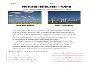 natural resources wind worksheet for 2nd 3rd grade lesson planet. Black Bedroom Furniture Sets. Home Design Ideas
