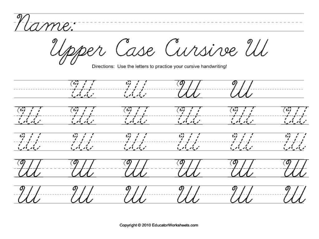 uppercase cursive w worksheet for 2nd 3rd grade lesson planet. Black Bedroom Furniture Sets. Home Design Ideas