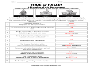 Fancy us government worksheets Useful