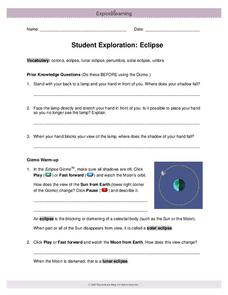 Student Exploration: Eclipse Interactive
