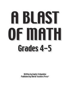 A Blast of Math Worksheet