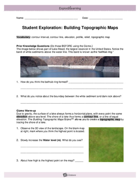 Topographic Map Worksheet Answer Key Pdf - Best Map Collection