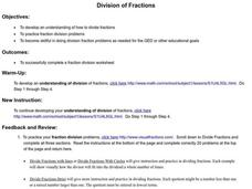 Division of Fractions Lesson Plan