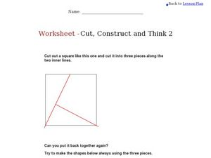 Cut, Construct, and Think 2 Worksheet