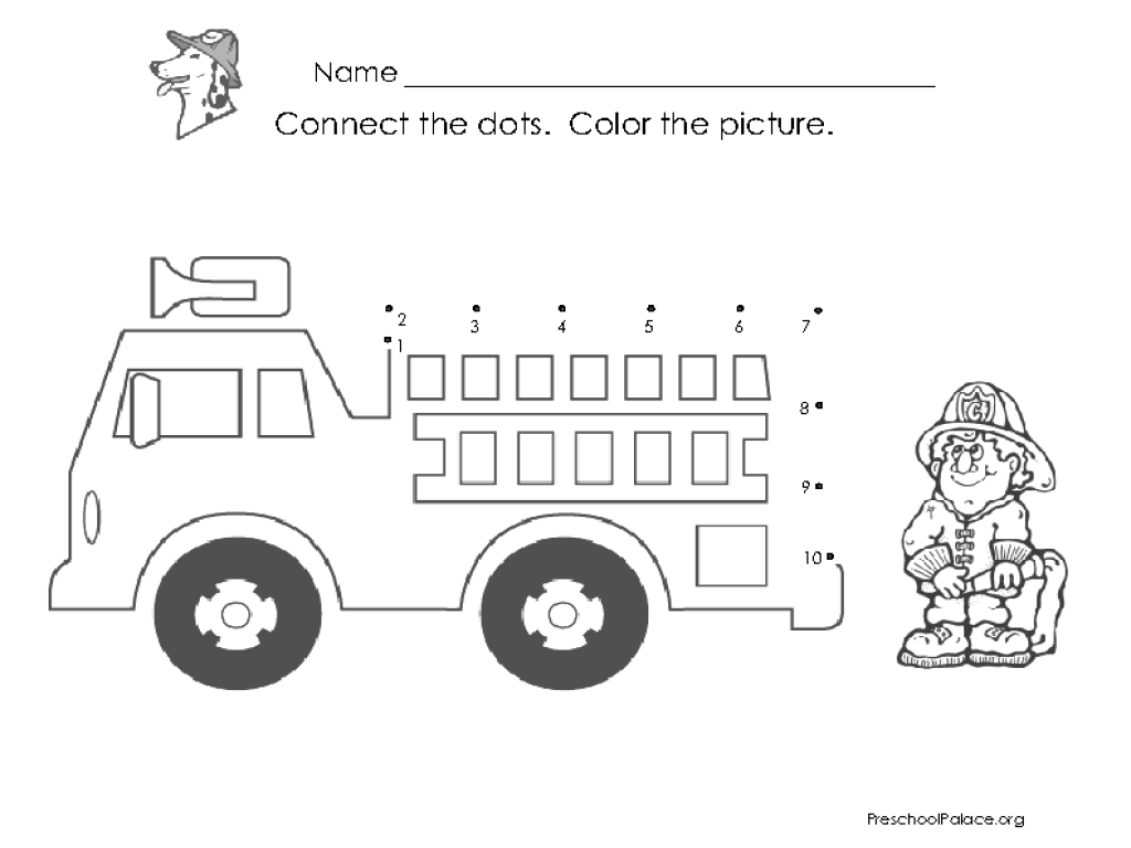 Connect The Dots-1-10 Lesson Plan For Pre-K