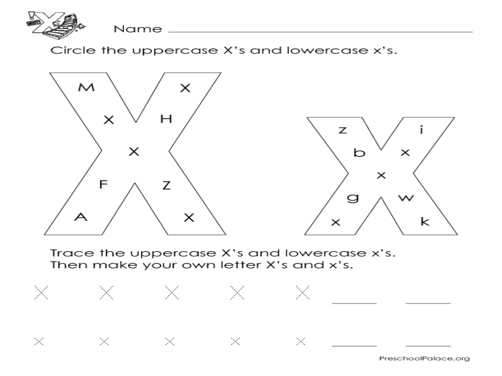 """Letter """"X"""": Count, Trace And Draw Lesson Plan For"""