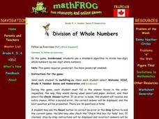 Division of Whole Numbers Lesson Plan