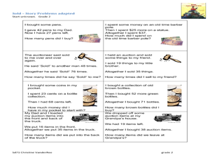 Consumer Math Word Problems Worksheet for 3rd - 4th Grade | Lesson ...