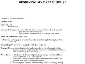 My Dream House Lesson Plans Worksheets Reviewed By Teachers