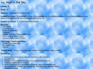 High in the Sky Lesson Plan