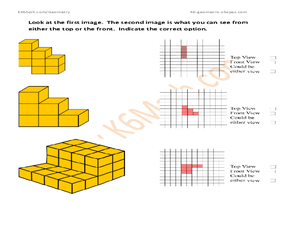 Geometric Shapes, Construction Perspective Worksheet
