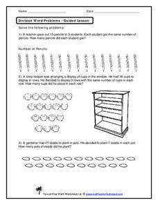 Division Word Problems Worksheet
