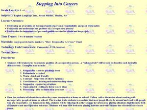 Stepping Into Careers Lesson Plan
