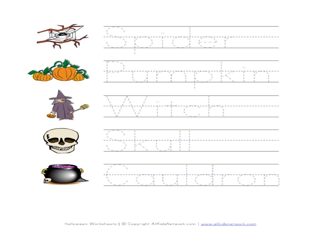halloween handwriting worksheet worksheet for pre k 1st grade lesson planet. Black Bedroom Furniture Sets. Home Design Ideas