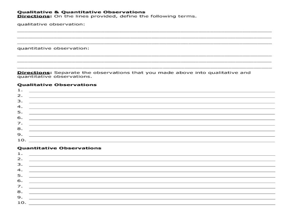 worksheet Qualitative Vs Quantitative Worksheet workbooks qualitative and quantitative worksheets free printable making observations candle activity 5th 6th grade worksheet quantitative