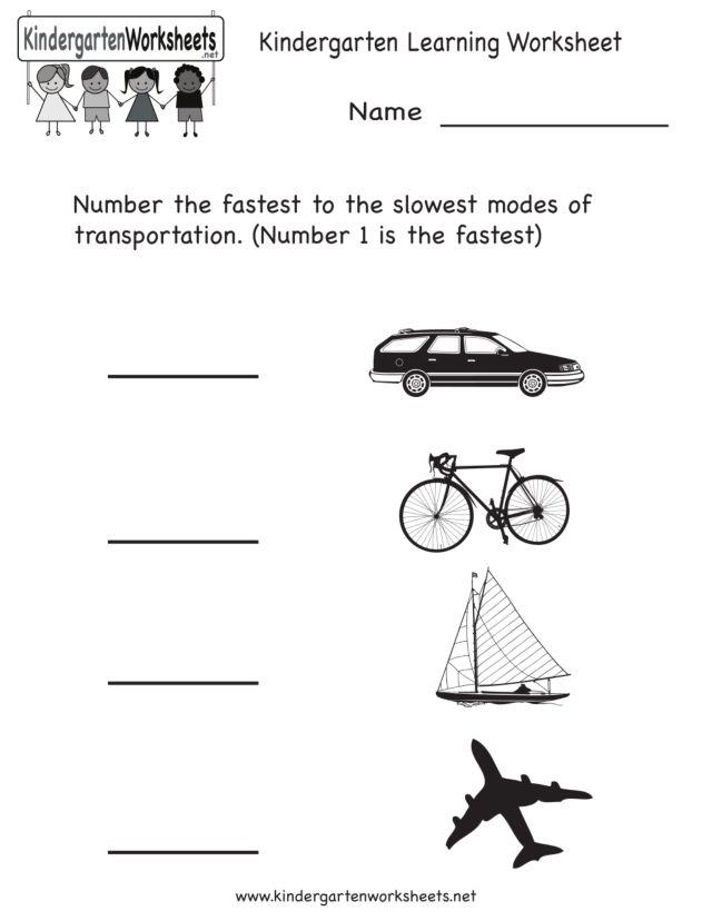 modes of transportation worksheet for pre k 1st grade lesson planet. Black Bedroom Furniture Sets. Home Design Ideas