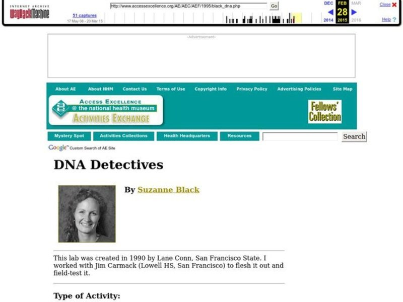DNA Detectives Lesson Plan